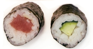 Makizushi of Tuna and Cucumber