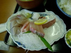 Kanburi sashimi for breakfast
