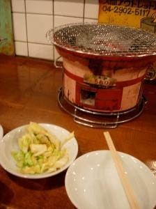 Personal Grill at Shinjuku Hormone