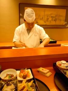 Iron Chef Kimio Nonaga at Nihonbashi Yukari