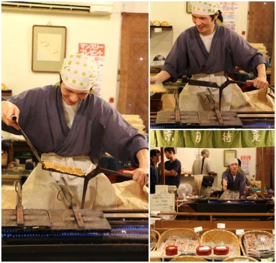 Kyoto Nishiki Market stall action