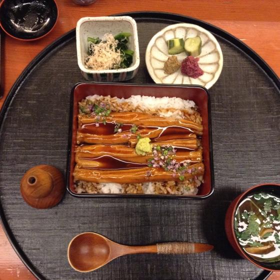 Nihonbashi Yukari summer lunch - anago