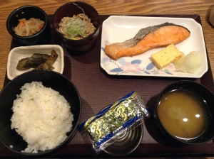 Traditional Japanese Breakfast at Tokyo Station