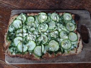 vy Place - zucchini flatbread pizza