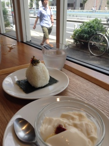 Onigiri and Annin Dofu