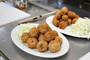 Okara and vegetable croquettes