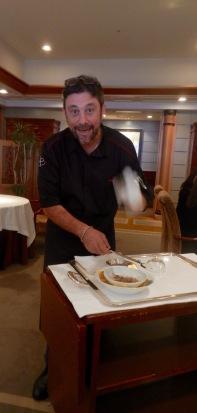 Bruno Menard shaving white truffles