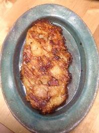 Joel robuchon potato, cheese, and lardons