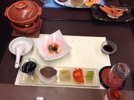 Taki no Yu appetizers